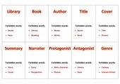 Taboo Spiel für Englisch Buchpräsentation