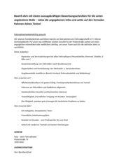 Bewerbungsschreiben - Antworten auf eine Ausschreibung