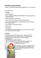 Transparentpapier - Mosaikeier als Blumenstecker