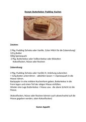 Butterkekse- Pudding- Kuchen