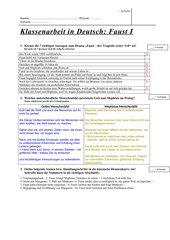 Klassenarbeit Faust I+ Lösung