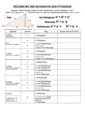 Regelblatt zum Pythagoras