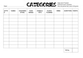 Categories - Word Game