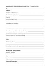 Beurteilungsbogen epischer Text