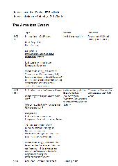 American Dream - Reihenplanung mit anschl. Oral Exam
