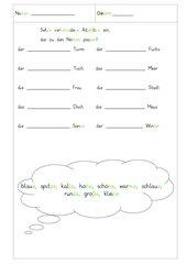 Adjektive einsetzen