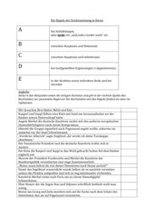 Regeln für die Kommasetzung (Arbeitsblatt)