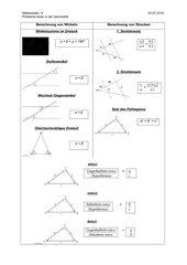 Überblick über einige Sätze der Geometrie