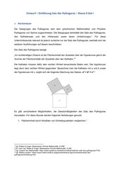 Einführung Satz des Pythagoras