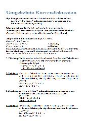 Umgekehrte Kurvendiskusssion (zwei Versionen)
