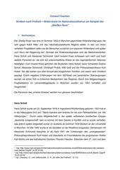 UR-Entwurf: Streben nach Freiheit - Widerstand im Nationalsozialismus am Beispiel der