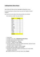 Lieblingsfarben deiner Klasse -Excel