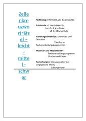 Zeilenkreuzworträtsel - leicht - mittel - schwer