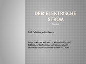 Einfaches über elektrischen Strom