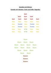 Gestalten mit Wörtern in Word