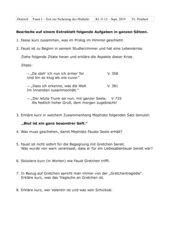 Test zum Inhalt Faust I - Oberstufe