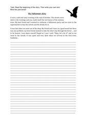 Writing: My Halloween story