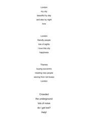 London poems: Elfchen schreiben