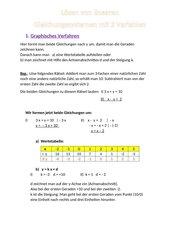 Lösen von linearen Gleichungssystemen mit 2 Variablen