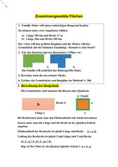 Zusammengesetze Flächen -Rechtecke