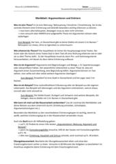 Merkblatt Argumentieren und Erörtern