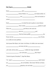 Lückendiktat V-Wörter 3. Klasse