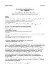 UR-Skizze: Geschichte römischer Legionär - römische Legion