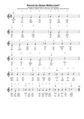Kennst du dieses Mathe-Lied?