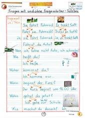 Fragen mit und ohne Fragewörter - Satzbau - Inversion