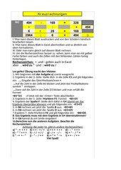 Kreuzrechnungen in N mit Excel