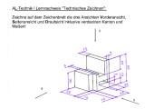 Klassenarbeit Technisches Zeichnen