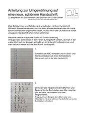 Anleitung zur Verbesserung der Handschrift