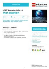 Mondstation: MINT-Material für LEGO® Education WeDo 2.0 (Klasse 3-4)