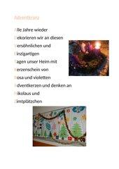 Gedanken zum Advent und Weihnachten #1