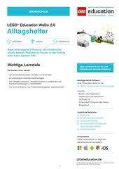 Alltagshelfer: MINT-Material für LEGO® Education WeDo 2.0 (Klasse 3-4)