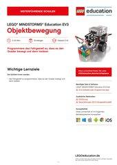 Objektbewegung: Erstes Programmieren mit LEGO Education Mindstorms EV3 (Klasse 5-8)