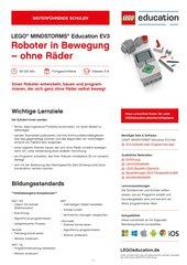 Roboter in Bewegung: Material für LEGO Mindstorms Education EV3 (Klasse 5-8, Fortgeschrittene)