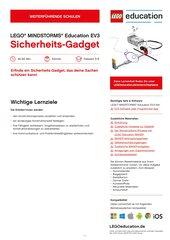 Sicherheits-Gadget konstruieren: Material für LEGO Mindstorms Education EV3 (Klasse 5-8, Könner)