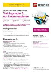 Trainingslager 3: Auf Linien reagieren – Material für LEGO Education SPIKE Prime (Klasse 5-8, Einsteiger)