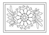 Ausmalbild - Blüte