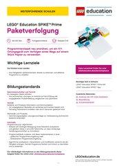 Paketverfolgung: Mit einem Ortungsgerät Muster erkennen - Material für LEGO Education SPIKE Prime (Klasse 5-8, Fortgeschrittene)