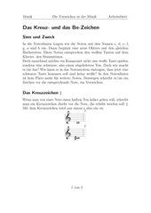 Das Kreuz- und das Be-Zeichen in der Musik