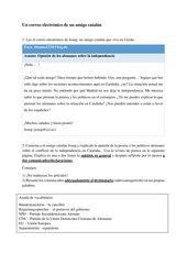Un correo electrónico de un amigo catalán - Sprachmittlungsaufgabe
