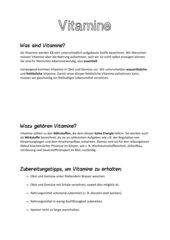 Vitamine im Überblick