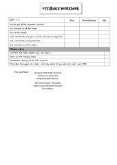 Feedbackbogen Workbook