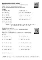 Terme mit Klammern multiplizieren