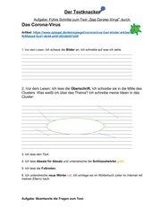 Corona-Virus. Textknacker Aufgabe