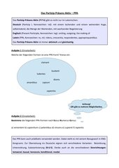 Übungsaufgaben zum Partizip Präsens Aktiv (PPA)