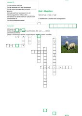 Kreuzworträtsel - Säugetiere
