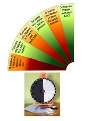 Glücksrad - Aufträge für Lernwort-Training